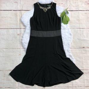 Ralph Lauren Embellished Neck Fit & Flare Dress 4